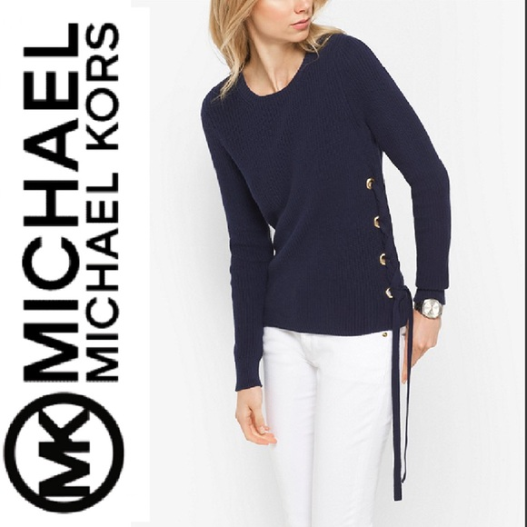 d51a3a62fe6 •Michael Kors• Side Lace Up Knit Sweater
